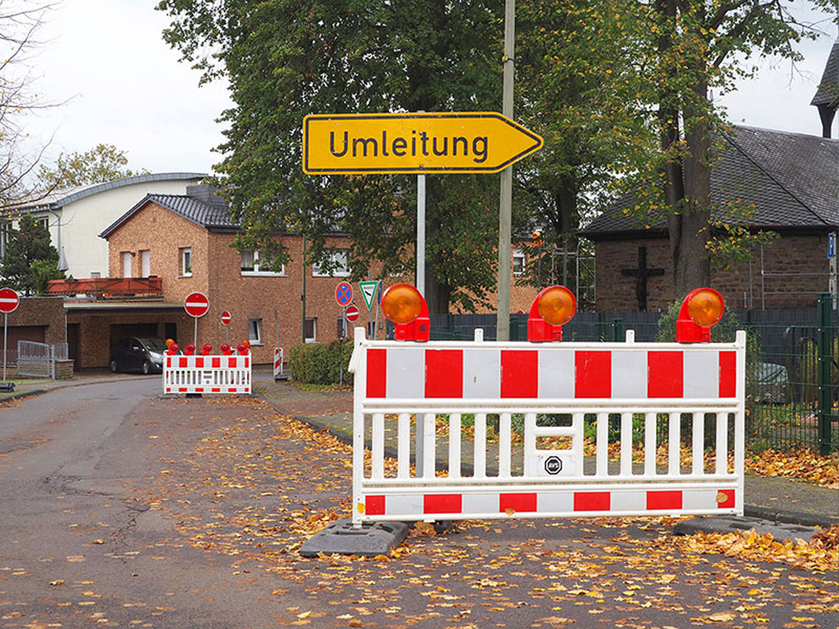 Overath: Renovation of the roundabout in the district Heiligenhaus